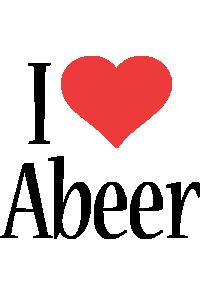 Abeer i-love logo
