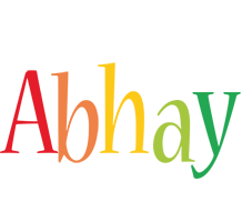Abhay birthday logo
