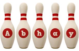 Abhay bowling-pin logo