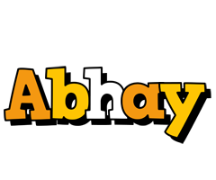 Abhay cartoon logo