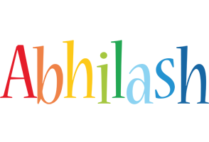 Abhilash birthday logo