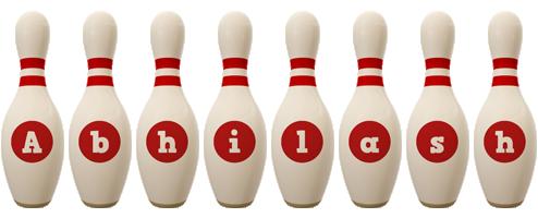 Abhilash bowling-pin logo
