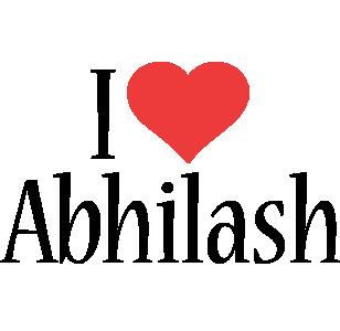 Abhilash i-love logo