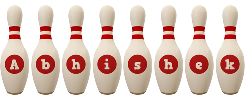 Abhishek bowling-pin logo