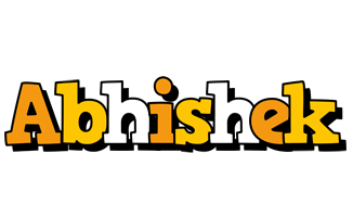 Abhishek cartoon logo