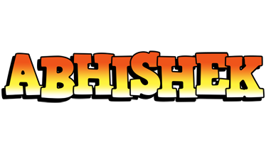 Abhishek sunset logo