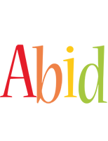 Abid birthday logo