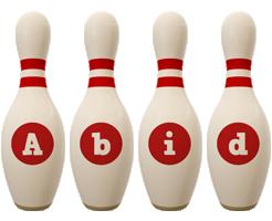Abid bowling-pin logo