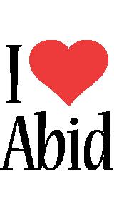 Abid i-love logo