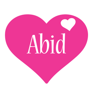Abid love-heart logo