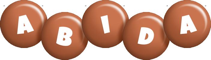 Abida candy-brown logo