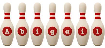 Abigail bowling-pin logo