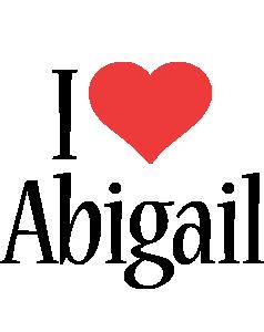 Abigail i-love logo
