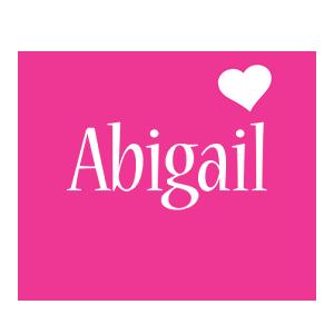 Abigail love-heart logo