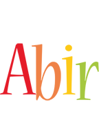 Abir birthday logo