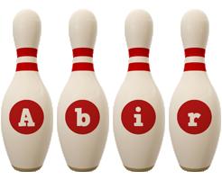 Abir bowling-pin logo