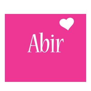 Abir love-heart logo