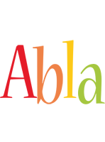 Abla birthday logo