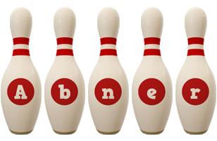 Abner bowling-pin logo