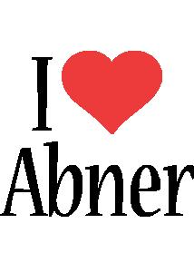 Abner i-love logo