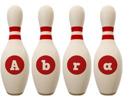 Abra bowling-pin logo