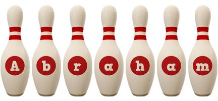 Abraham bowling-pin logo