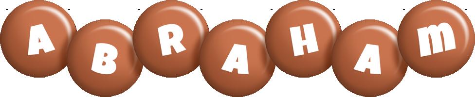 Abraham candy-brown logo