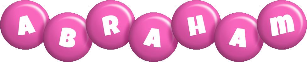 Abraham candy-pink logo