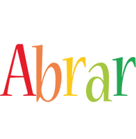 Abrar birthday logo