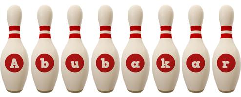 Abubakar bowling-pin logo