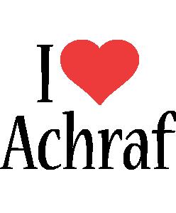 Achraf i-love logo