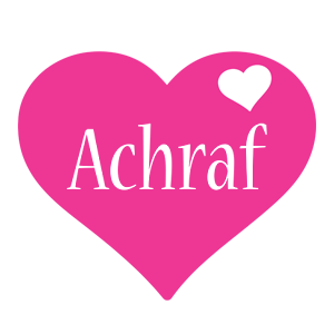 Achraf love-heart logo
