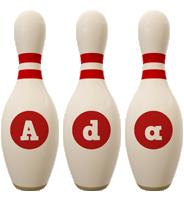 Ada bowling-pin logo