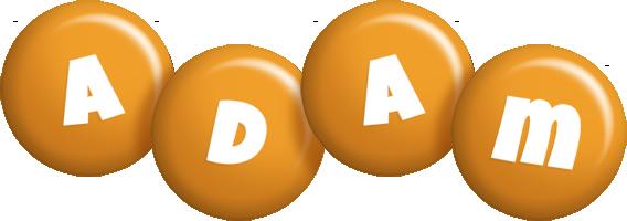 Adam candy-orange logo