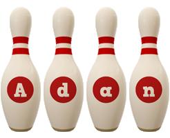 Adan bowling-pin logo