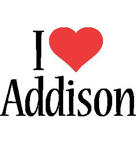 Addison i-love logo