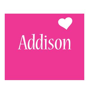 Addison love-heart logo