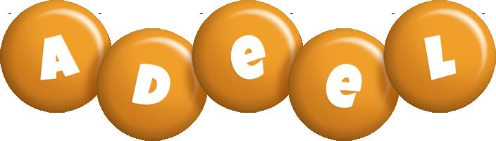 Adeel candy-orange logo
