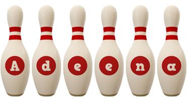 Adeena bowling-pin logo