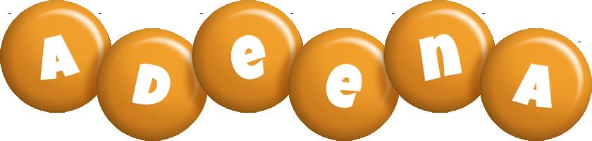 Adeena candy-orange logo