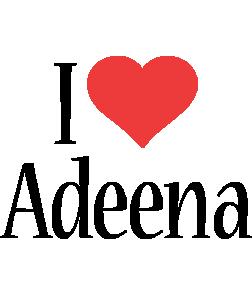 Adeena i-love logo