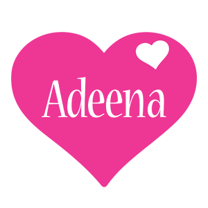 Adeena love-heart logo