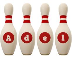 Adel bowling-pin logo