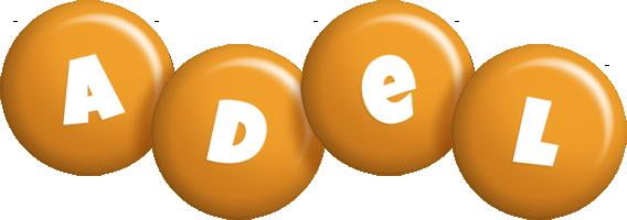 Adel candy-orange logo