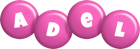 Adel candy-pink logo