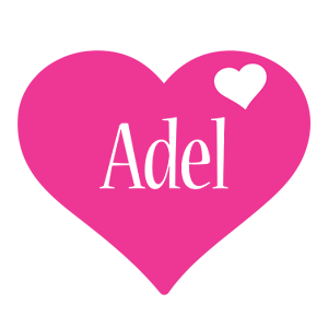 Adel love-heart logo
