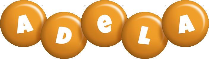 Adela candy-orange logo