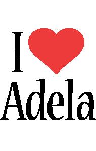 Adela i-love logo