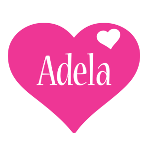 Adela love-heart logo