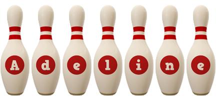 Adeline bowling-pin logo